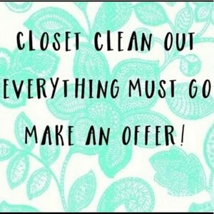 Closet clean out, Everything must go, Make offers!